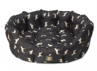 Waterproof Dog Print Oval Dog Bed